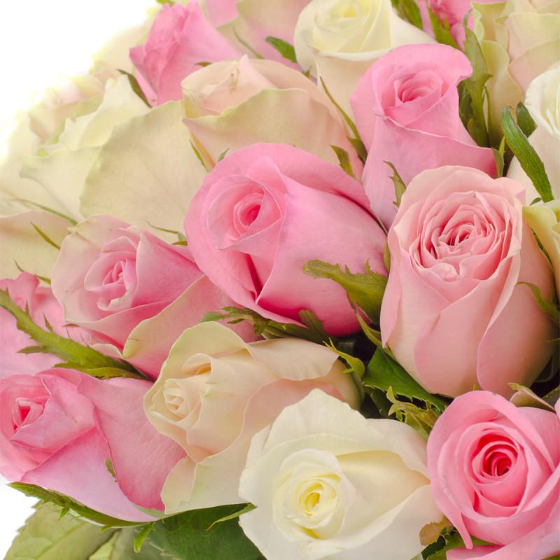 Большие открытки розовые розы, анимация добрым утром